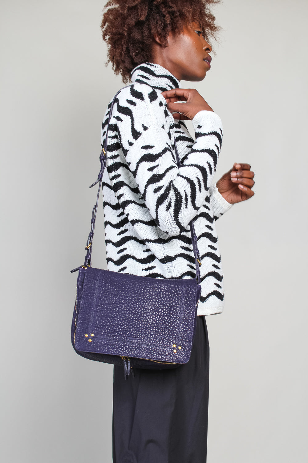Igor Crossbody bag in Deep Purple