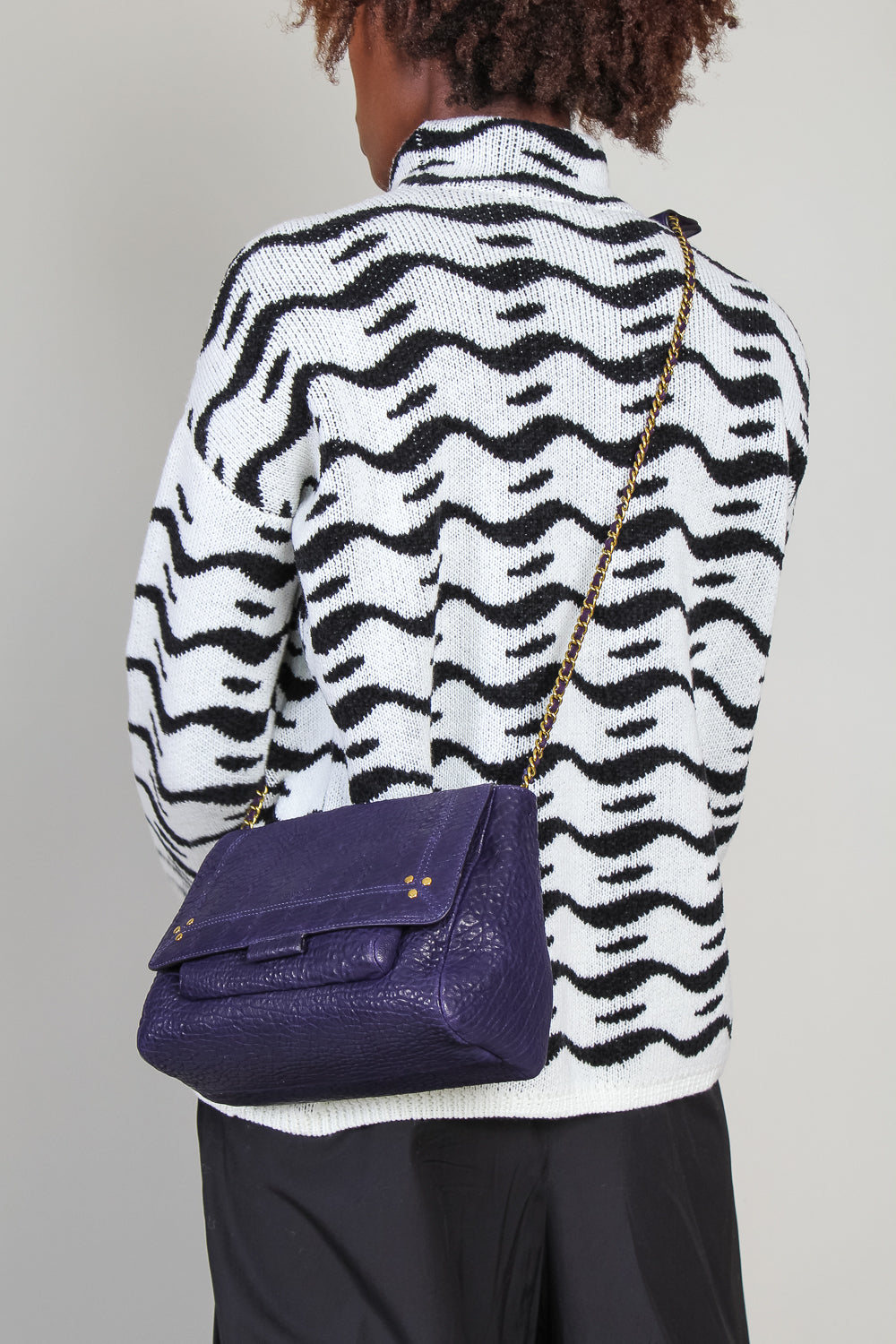 Medium Lulu Crossbody Bag in Deep Purple