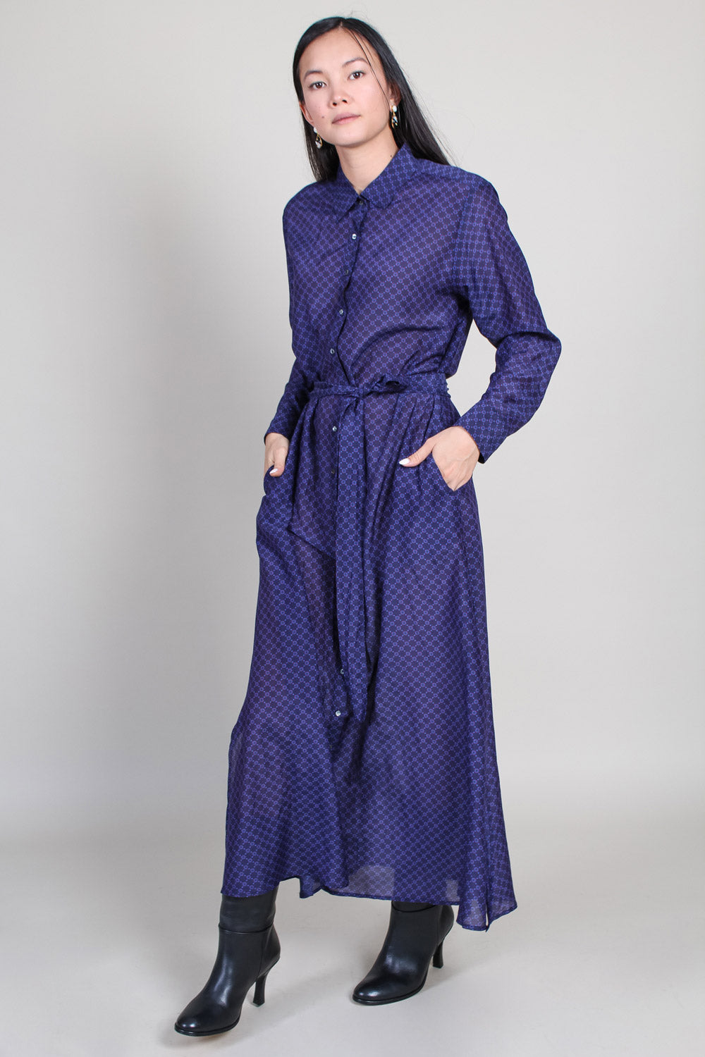 Boden Dress in Agate Blue
