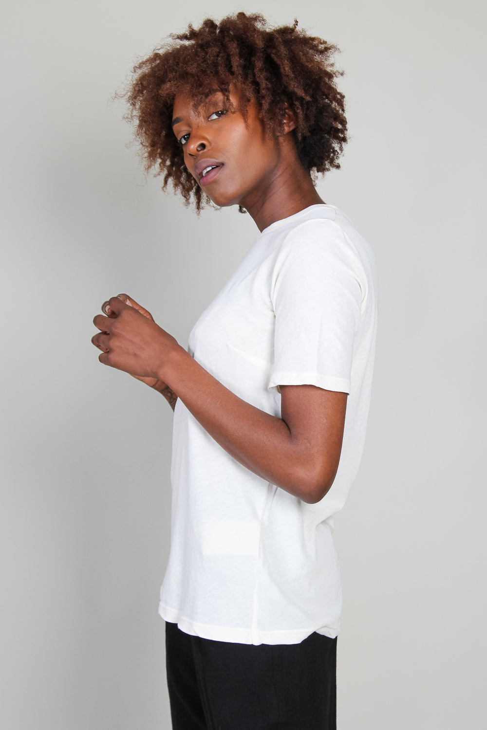 Slim Tee in Dirty White