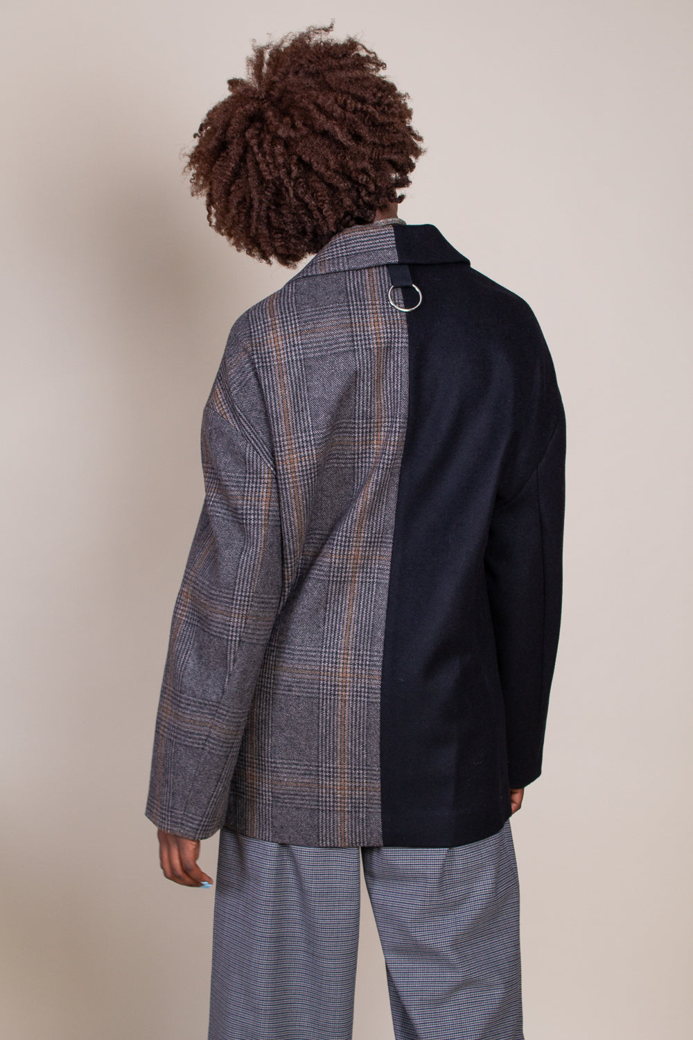 Menswear Liam Blazer in Grey Multi