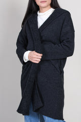 Hooded Robe in Charcoal