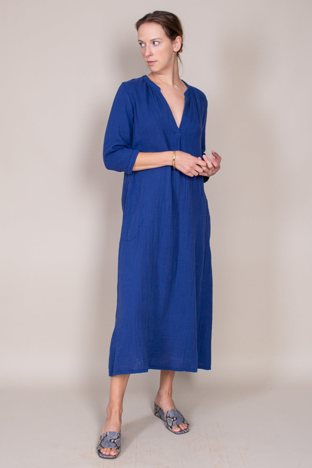 Joni Dress in Capri Blue