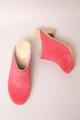 No.6 Old School Clog on High Heel in Melon Pony - Vert & Vogue