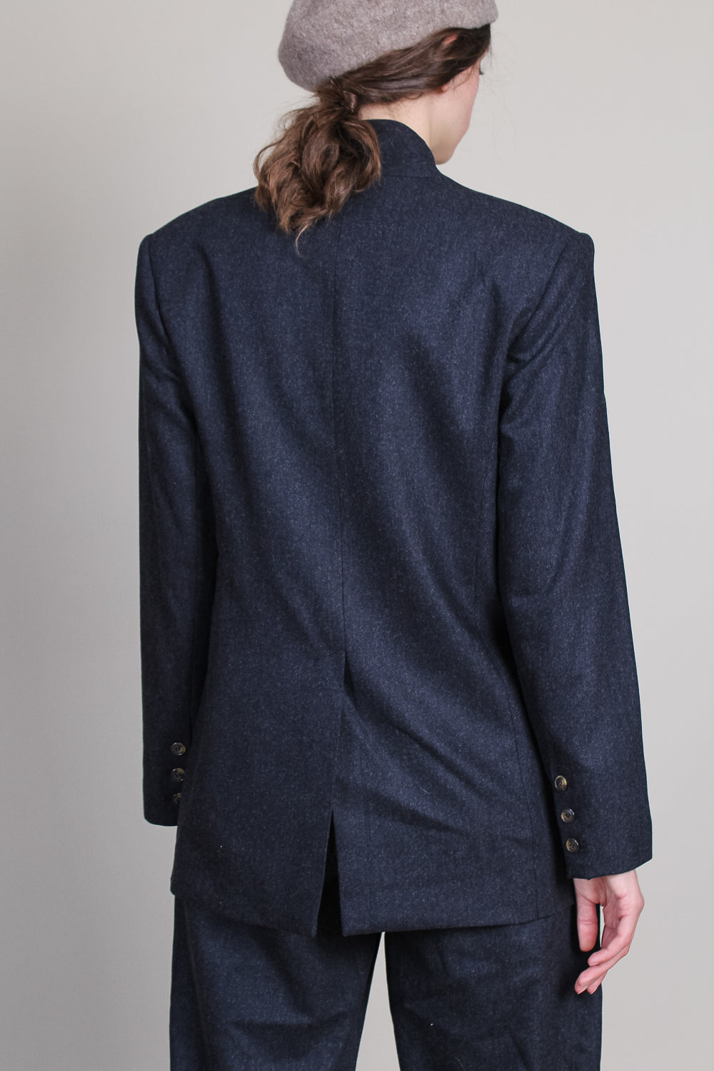 Folaca Blazer in Black Melange