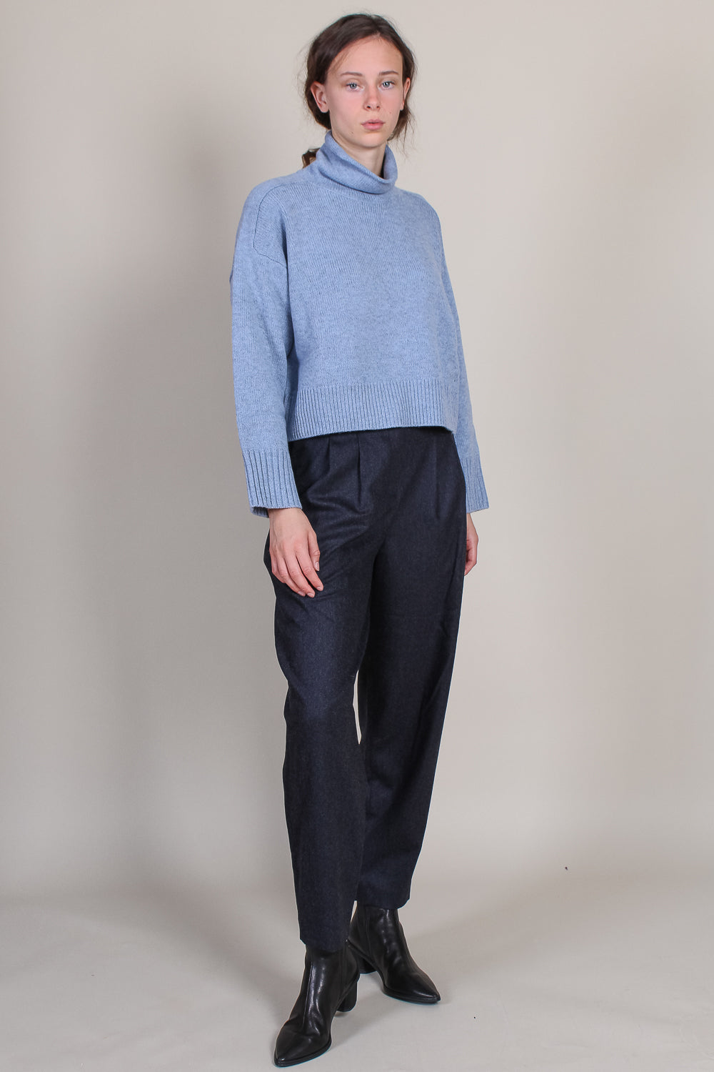 Stintino Collar Sweater in Blue Melange