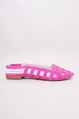 Intentionally Blank Sienna Slingback Flat in Flamingo - Vert & Vogue