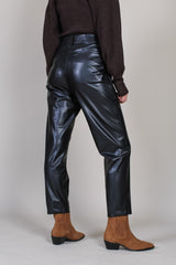 Vegan Leather Pants in Black