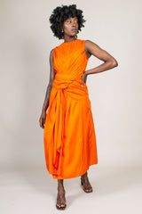 Davu Sleeveless Dress in Fire