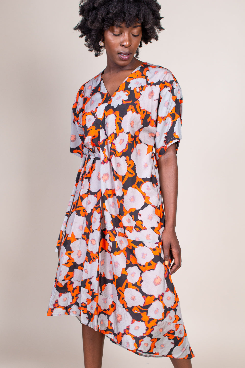 Dimbani Dress in Poppy Fire