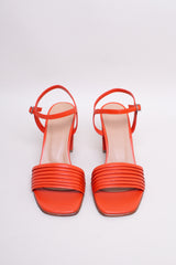 NO.6 Prague Sandal in Red Kidskin - Vert & Vogue