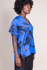 Tafui Top in Avis Blue