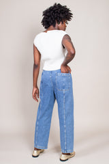 Steer Pant in Washed Indigo