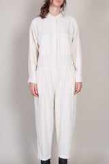Carpenter Jumpsuit in Cream