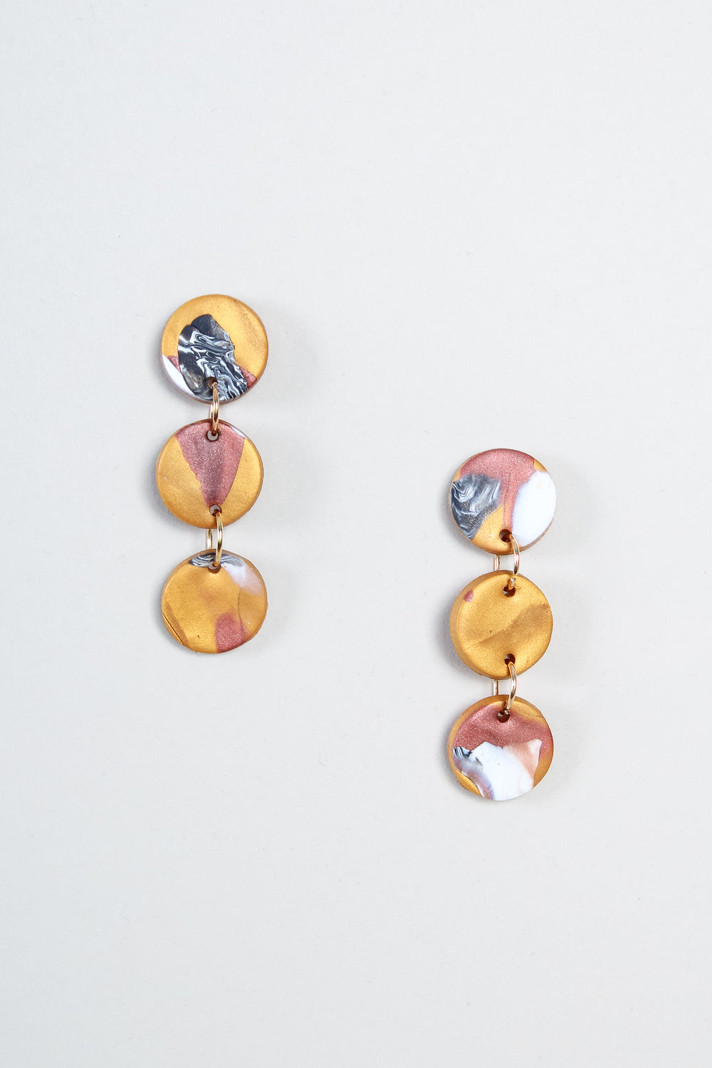 Mattie Earrings in Gold Bronze
