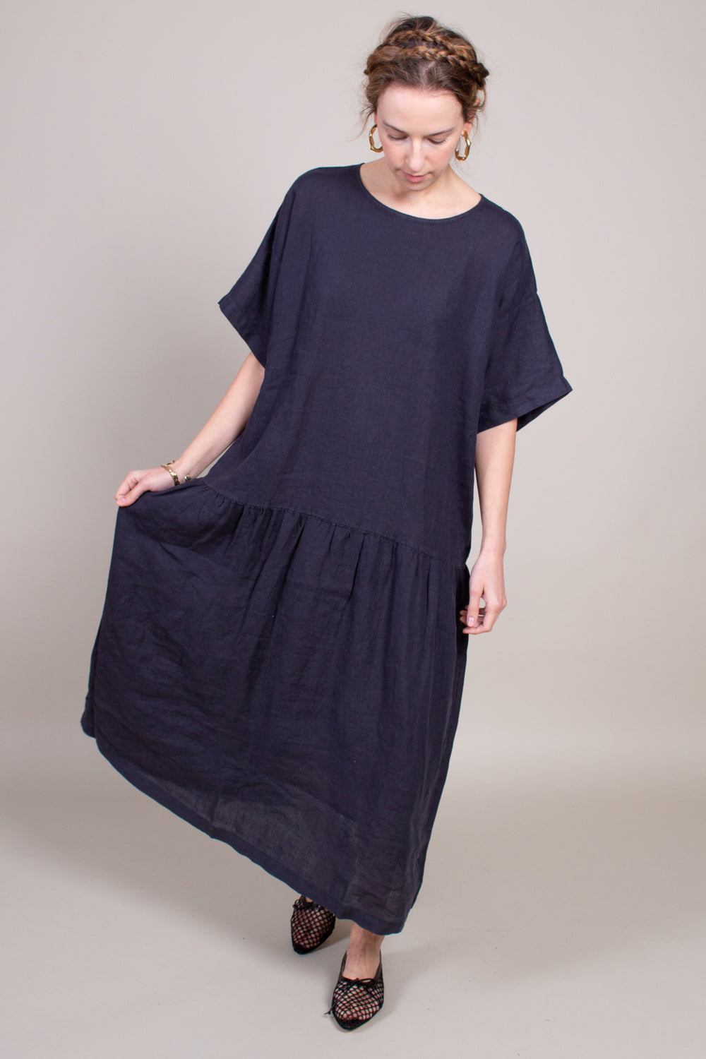 Easy Tee Dress in Black