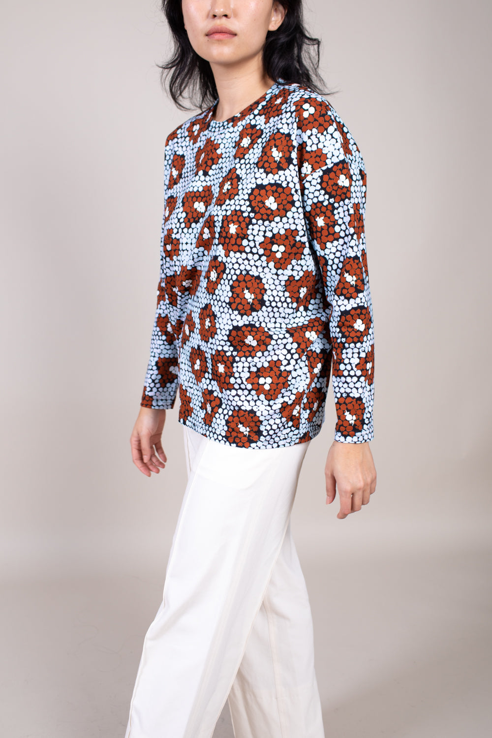 Turas Long Sleeve Shirt in Blue Daisy