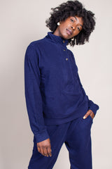 Marta Zip Up in Navy