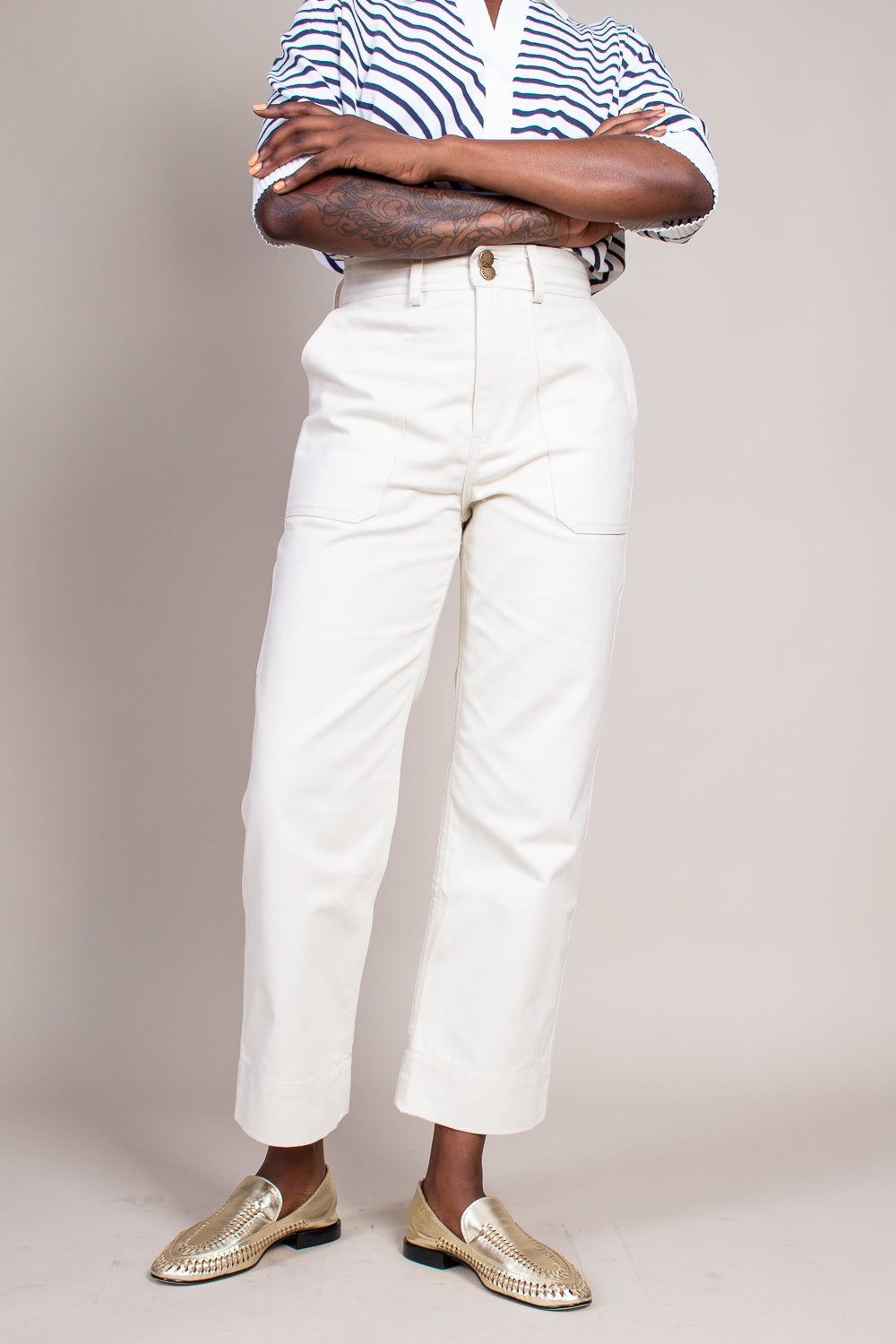 Victoire Painters Pant in Cream