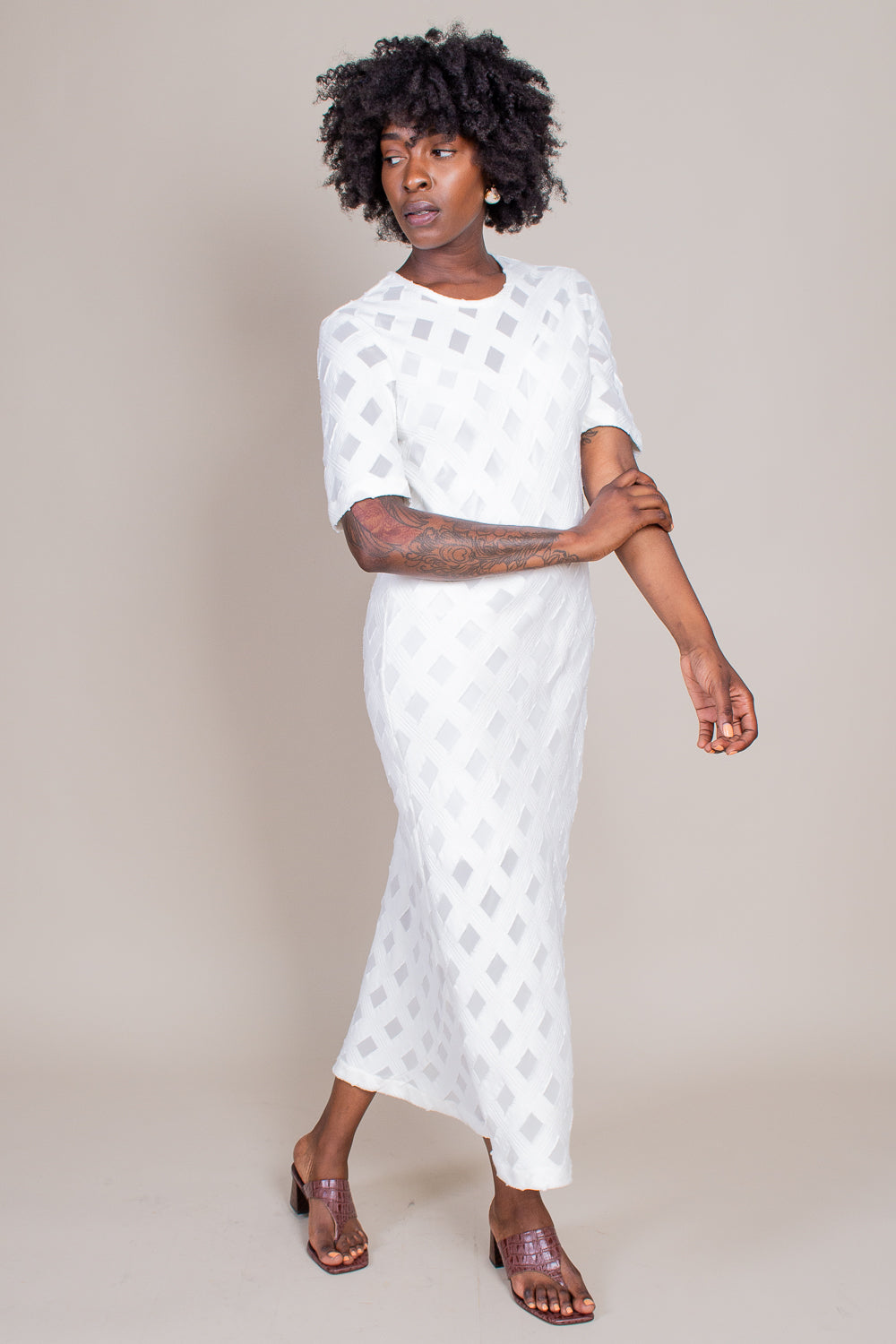 Golda Dress in White