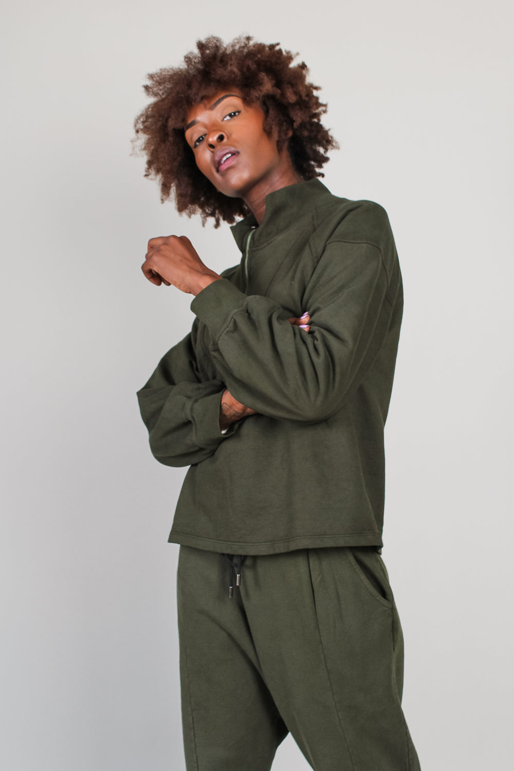 Jag Pullover Sweatshirt in Forest