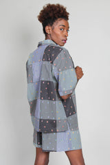 Leigh Shirt in Gingham Patchwork
