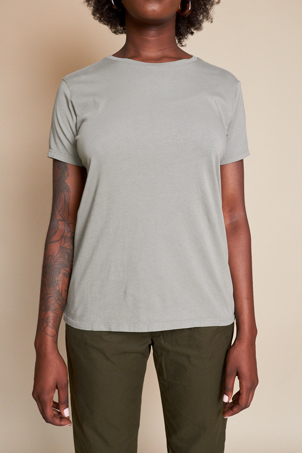 Organic Cotton Layering Crew in Sprout