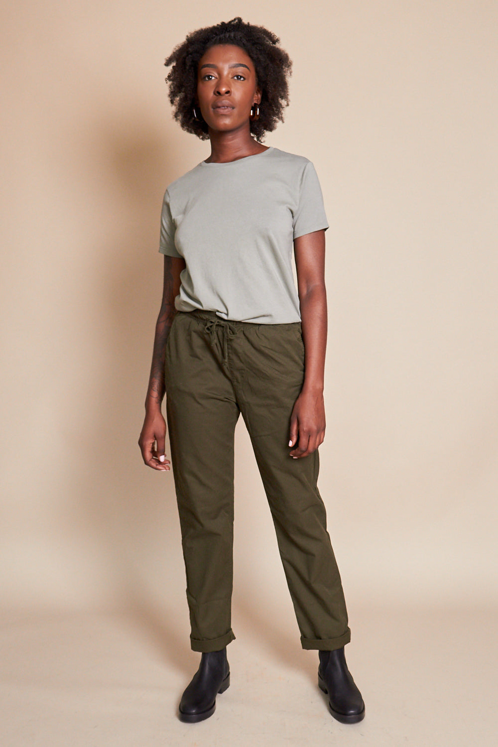 Twill Easy Chino in Olive
