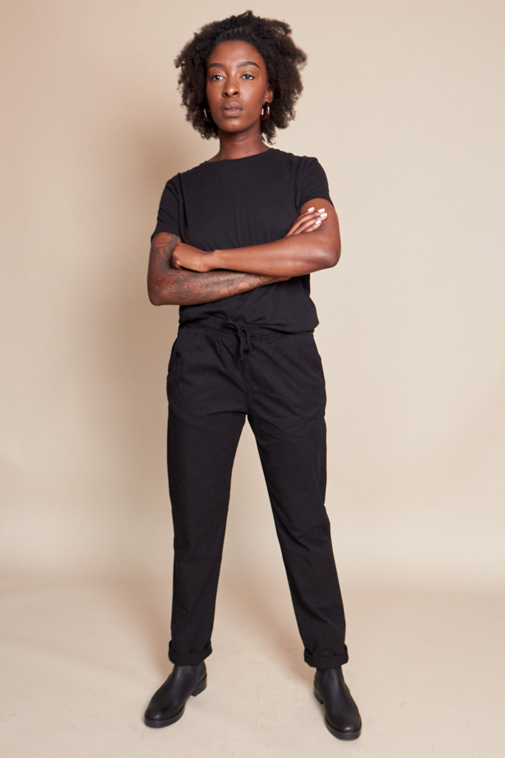 Twill Easy Chino in Black