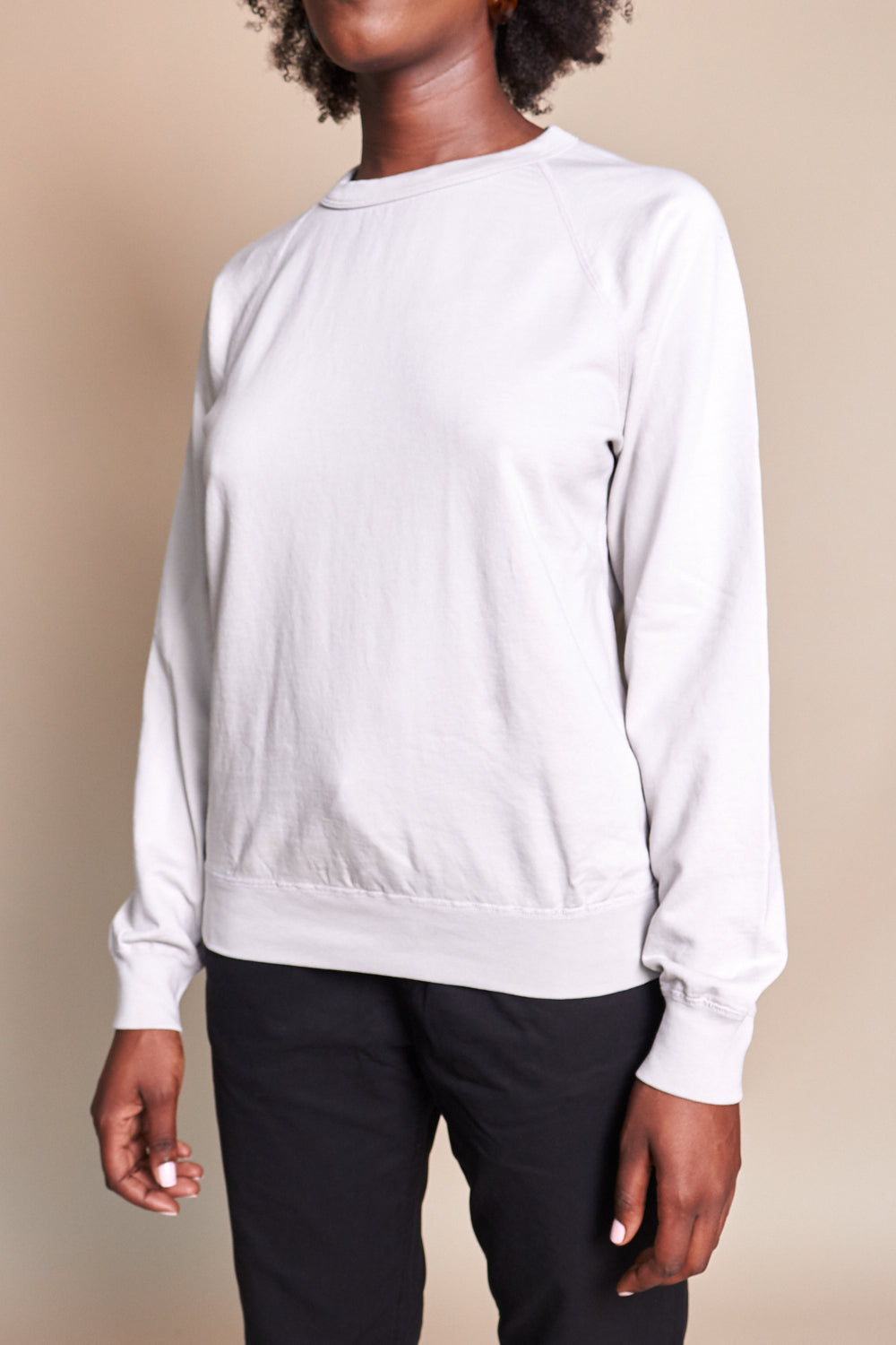 Supima Fleece Sweatshirt in Bone