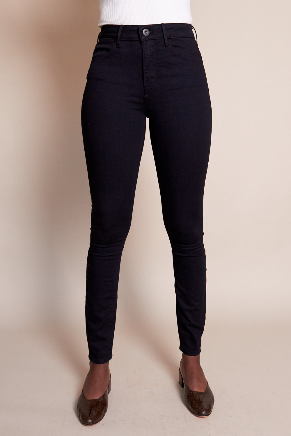 W3 Channel Seam Skinny Jean in Black No.1