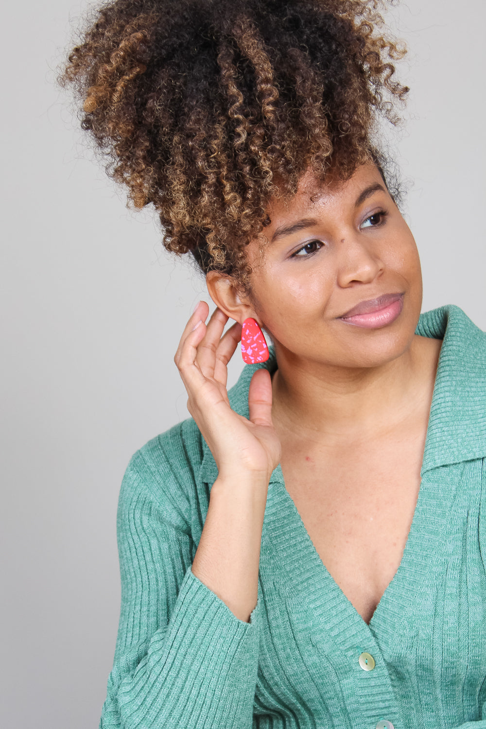 Millie Earrings in Crimson and Lilac