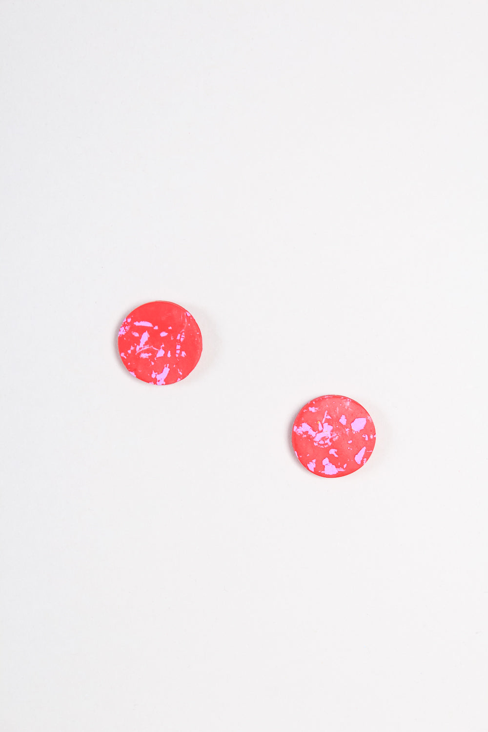 Mini Moon Earring in Crimson and Lilac