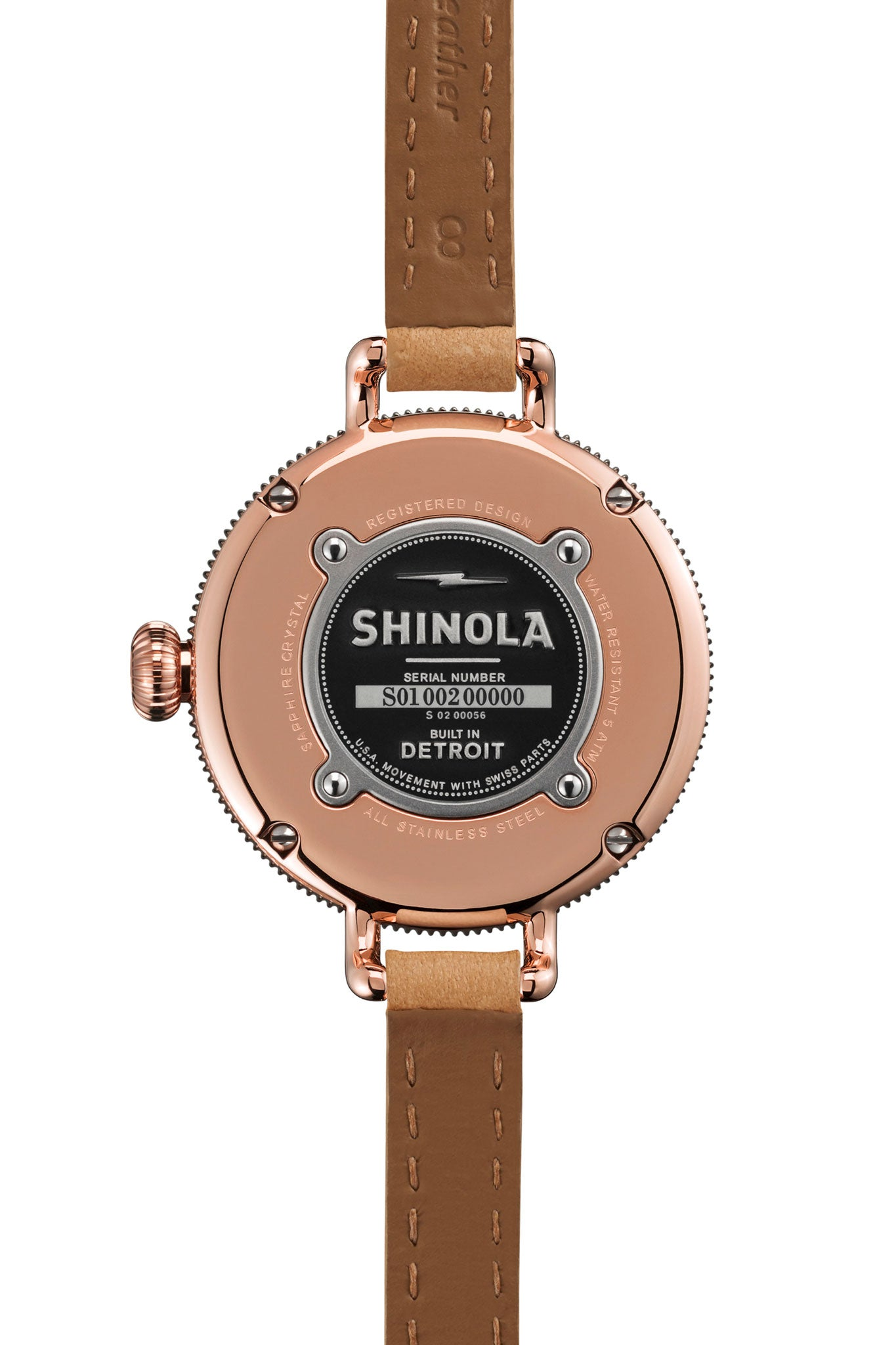 Shinola Birdy 34mm Watch in Silver/Natural - Vert & Vogue