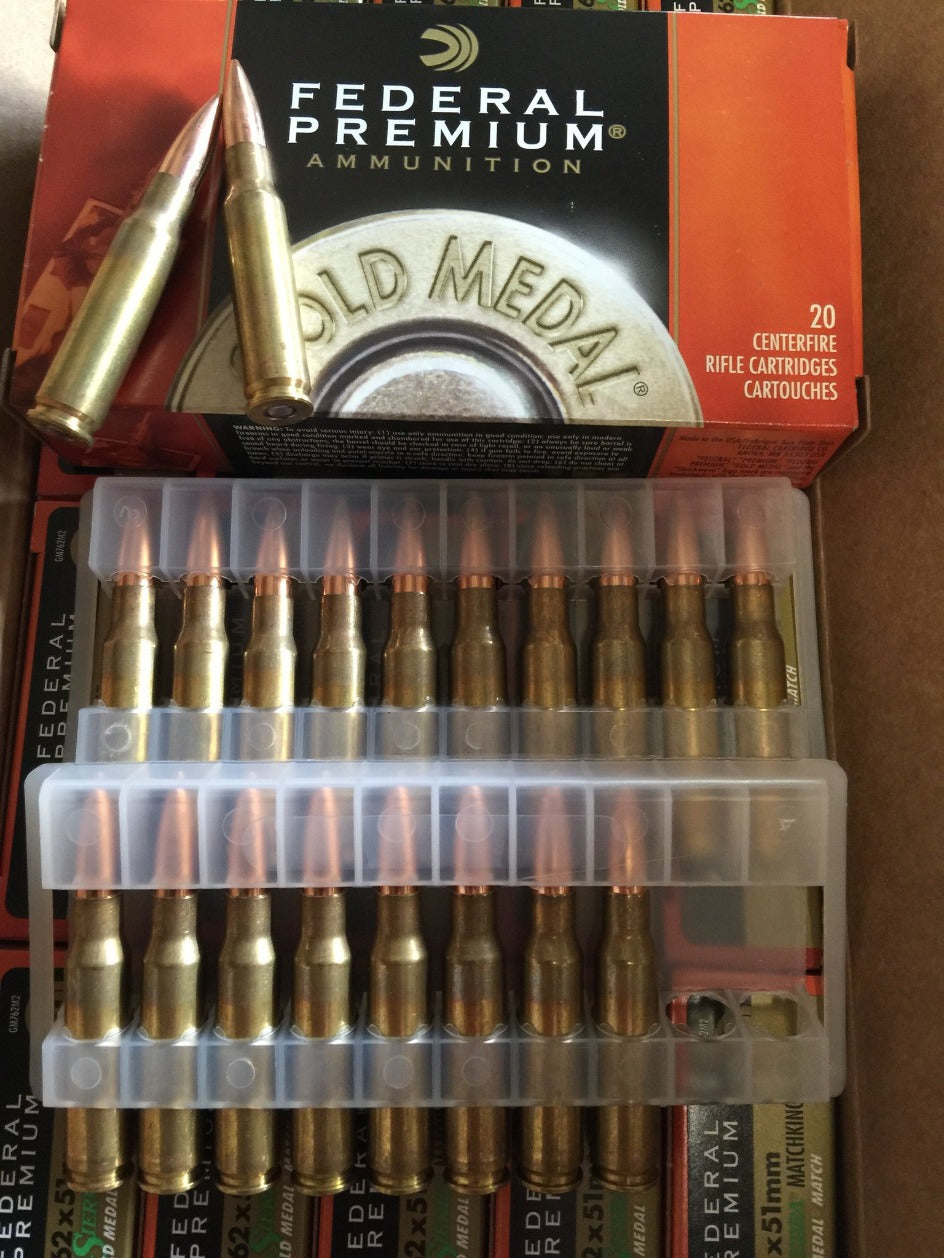 308 (7.62x51) 175GR Federal, Gold Metal Match Sierra Matchking BTHP (GM308M2) - Bone Frog Gun Club