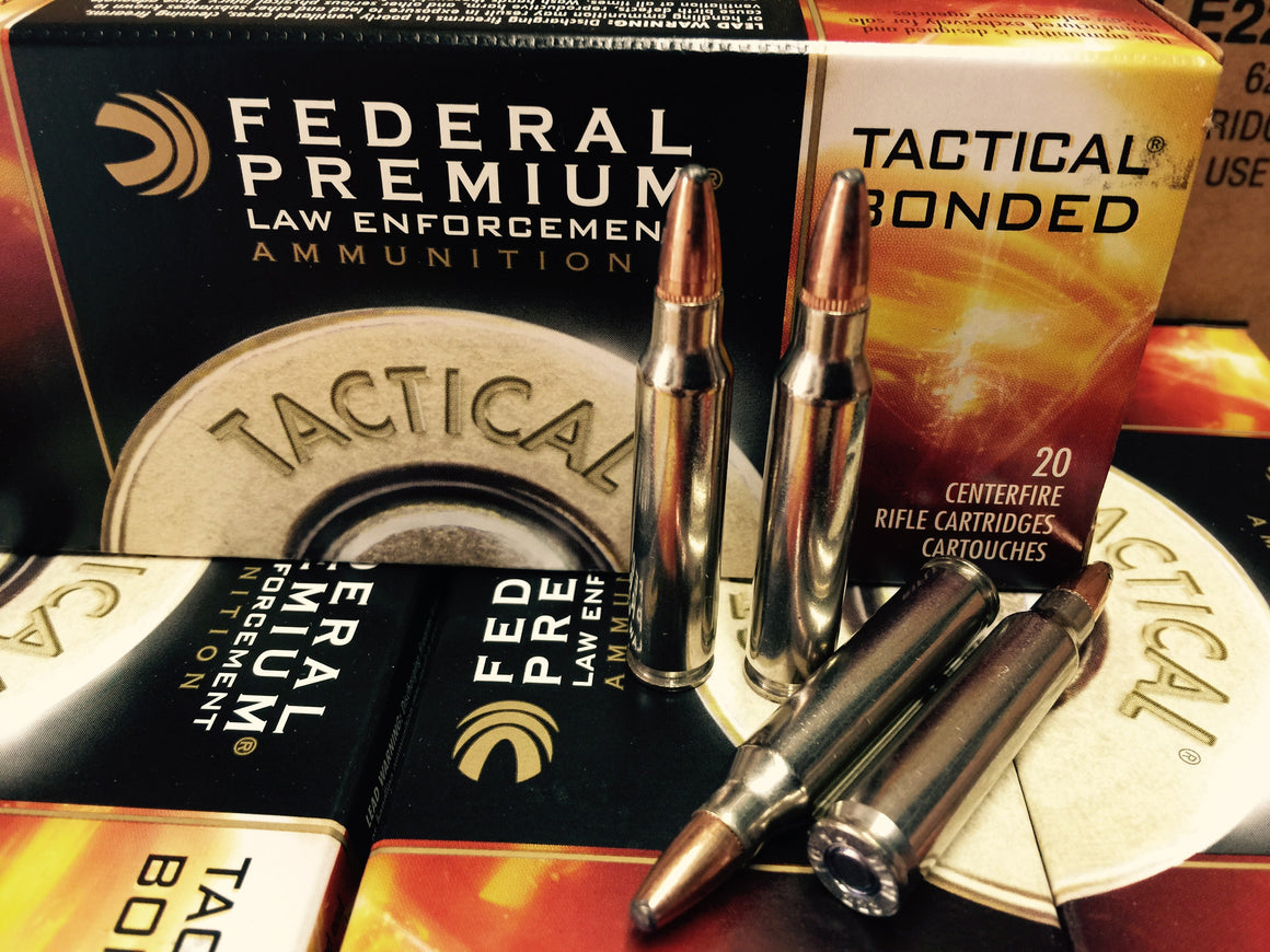 223 REM 62GR Federal Tactical Bonded (LE223T3) - Bone Frog Gun Club