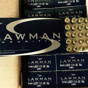 9MM 124GR Speer Lawman TMJ (53651) - Bone Frog Gun Club