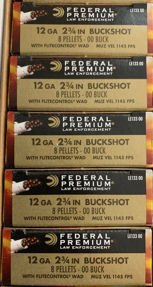 12GA Federal Tactical 00BuckShot 8 Pellet with FliteControl Wad 2 3/4 (LE13300)