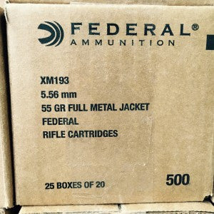 5.56 55GR Federal American Eagle FMJ (XM193) - Bone Frog Gun Club