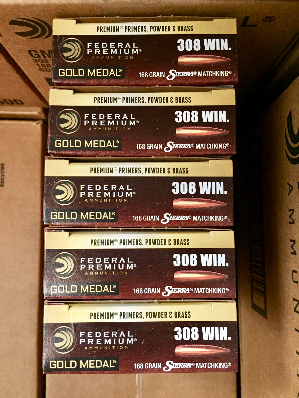 308 (7.62x51) 168GR Federal, Gold Medal Match Sierra Matchking BTHP (GM308M) - Bone Frog Gun Club
