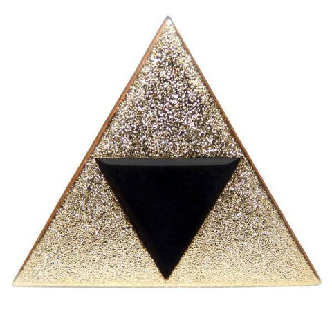 Zelda Triforce Inspired Pin Badge - ZoS - Premium Gaming Memorabilia  - 1