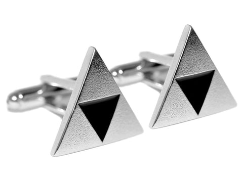 Zelda Inspired Triforce Cufflinks : Sterling Silver - ZoS - Premium Gaming Memorabilia  - 1