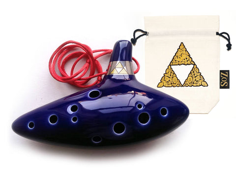Legend of Zelda Ocarina of Time Replica: White/Triforce - ZoS - Premium Gaming Memorabilia  - 2