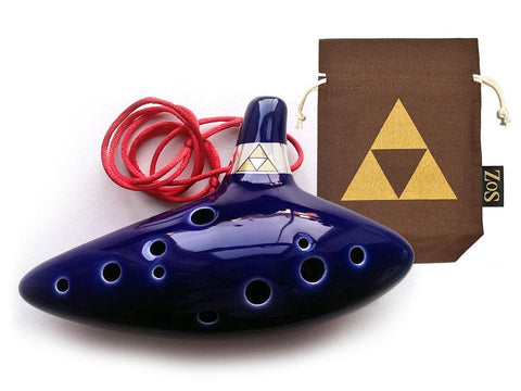 Legend of Zelda Ocarina of Time Replica: Brown/Triforce - ZoS - Premium Gaming Memorabilia  - 1