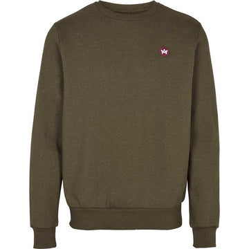 Kronstadt - Lars Recycled Cotton Sweat - Khaki Green