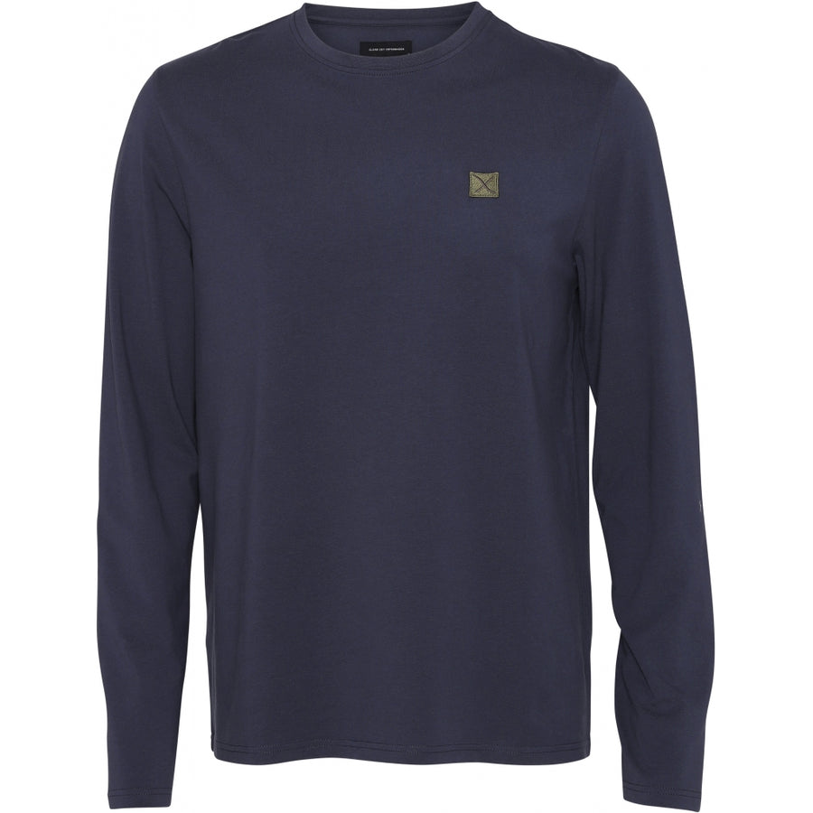 Clean Cut Copenhagen - Recycled Fabric Long Sleeve Tee - Navy