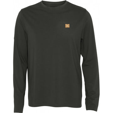 Clean Cut Copenhagen - Recycled Fabric Long Sleeve Tee - Bottle Green