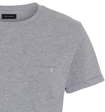 Clean Cut Copenhagen - Kolding 100% Organic Cotton Tee - Grey Melange