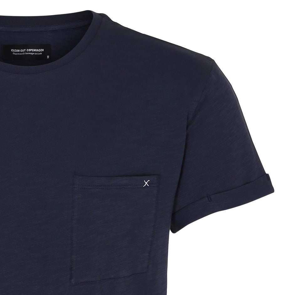 Clean Cut Copenhagen - Kolding 100% Organic Cotton Tee - Navy