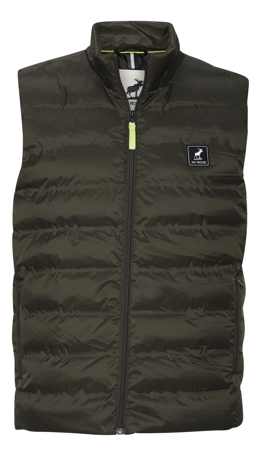 Fat Moose - Duncan 100% Recycled Polyester Gillet - Beetle Green